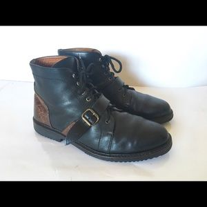 Cole Haan Country Black Brown Leather Chukka Boots